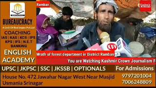 Wrath of Forest Department in District Ramban