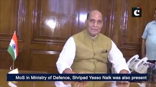 Rajnath Singh takes charge as Union Defence Minister