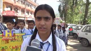 1 JUNE N  16 END sent embroz public school nauni  Awareness Rally on worlds anti tobacco day