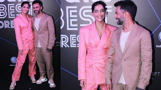Cute Couple Sonam Kapoor With Husband At GQ 100 Best Dressed Award 2019