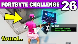 Fortnite Fortbyte #26 Location - Accessible with the Bunker Jonesy outfit near a Snowy Bunker