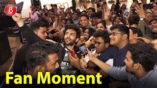 Kartik Aaryan gets BADLY mobbed by his fans at Gaiety galaxy