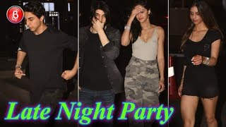 Aryan Khan and Suhana party with B-town friends Ahaan, Shanaya and Ananya Panday