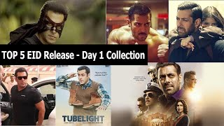 Top 5 Salman Khan Films Records On 1st Day Of Eid In Last 5 Years Including Kick And Sultan