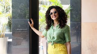 GAME OVER Promotion | Taapsee Pannu Spotted At Juhu