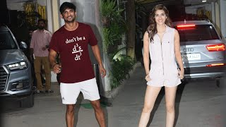 Kriti Sanon And Sushant Singh Rajput Spotted At Sunny Super Sound Juhu