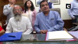 Nitin Gadkari, Pratap Chandra Sarangi take charge of MSME Ministry