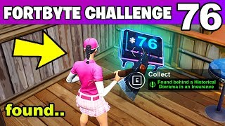 FORTBYTE #76 - Found behind a Historical Diorama in an Insurance Building (Fortnite Challenge)