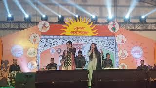 आगरा महोत्सव में अंतरराष्ट्रीय गायक दीपक त्रिपाठी पारुल नंदा लाइव | लोग संगीत जोरदार तड़का |