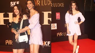 Cute Sisters Kriti Sanon And Nupur At Salman Khan BHARAT Movie Screening | Grand Premiere