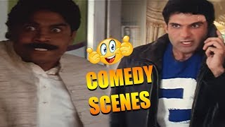 Most Entertaining scenes of Johnny Lever  Hindi comedy Movie - Indian babu