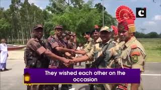 Eid-ul-Fitr: BSF personnel exchange sweets with Border Guards Bangladesh personnel