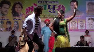 Khesari Lal Yadav खेसारी लाल यादव ने जम के किया डांसरो के साथ डांस  - Live Stage Show 2018