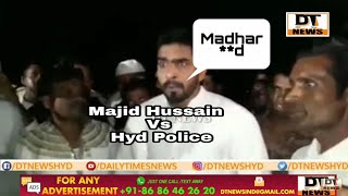 Angry MIM   Councillor Majeed Hussain   Over Police Protecting Rowdy Sheeter   Under Nampally
