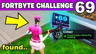 Fortnite Fortbyte #69 Location - Found Inside a Stone Pig Building - Fortbyte 69