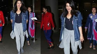 Priyanka Chopra Returns To INDIA Spotted At Mumbai Airport