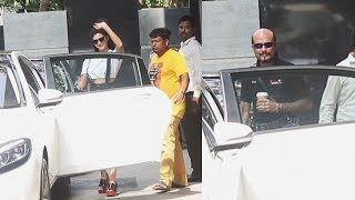 Jacqueline Fernandez Spotted With Her Dad At Mukesh Chabbra Office Juhu