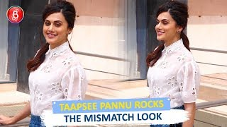 Taapsee Pannu ROCKS The Mismatch Look Promoting 'Game Over'
