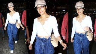 Beautiful Shraddha Kapoor Spotted In Funky Look At Mumbai Airport