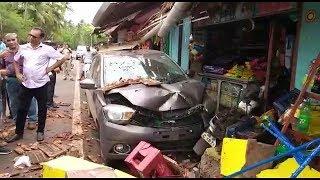 Karnataka Car Rams Into Shops In Cancona