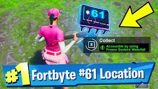 Fortnite Fortbyte #61 Location - Accessible by using Frozen Sunbird on a Frozen Waterfall
