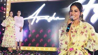 Hina Khan At The Launch Of Ayesha Mulla Makeup Brand Ayesha