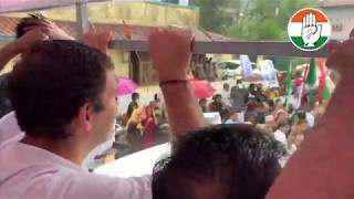 Congress President Rahul Gandhi holds a roadshow in Wayanad, Kerala