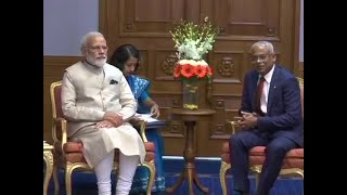 PM Modi holds meeting with Maldives president Solih in Male