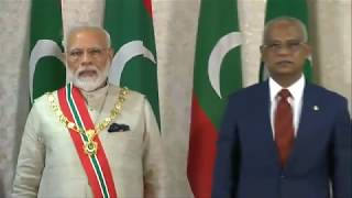 PM Narendra Modi conferred with Maldives' highest honour accorded to foreign dignitaries
