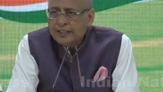Highlights: AICC Press Briefing by Abhishek Manu Singhvi at Congress HQ on BJP's Electoral Strategy
