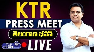 KTR LIVE | TRS Press Meet | Telangana Bhavan | Top Telugu TV
