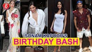 Arjun Kapoor Malaika Arora Janhvi Kapoor Karan Johar Attend Sonam Kapoor's Birthday