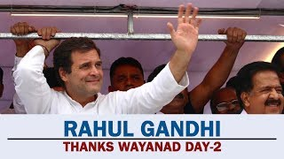 Congress President Rahul Gandhi Thanks Wayanad | Day 2