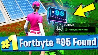 Fortbyte #95 Found at a Solar Panel Array in the Jungle Location Fortnite Fortbyte Number 95