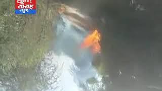 થરાદ-વાવ તાલુકાના રોડ પરની બંને સાઈડમાં ભીંસણ આગ