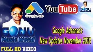 Google Adsense's New Updates November 2018