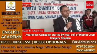 Awareness Campaign started by legal cell of District Court Complex Shopian