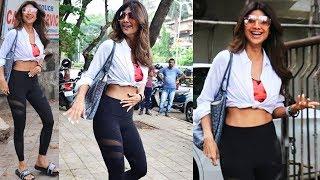 Stunning Shilpa Shetty Kundra Spotted At Salon In  JUHU
