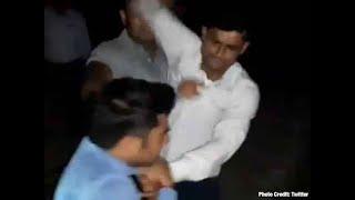 Watch: GRP inspector brutally thrashes journalist in Shamli