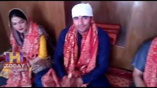 12 JUNE N 7  Kabaddi star Ajay Thakur visited Naina Devi along with family members