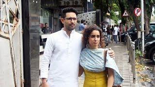 Sanya Malhotra With Vikrant Massey Spotted At Mukesh Chabbra Office Juhu