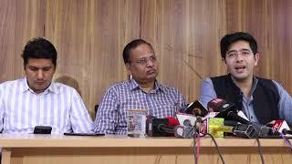 AAP Leader Raghav Chadha Briefs Media on Water Issue