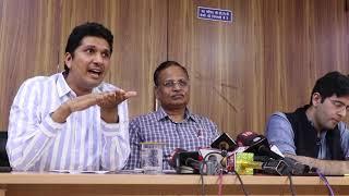 AAP Leader Saurabh Bhardawaj and Satyendra Jain on the Issue of Power Tariffs In Delhi