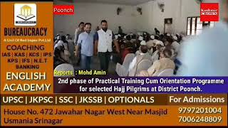2nd Phase of Training Cum Orientation Program for Selected Hajj Pilgrims at District Poonch