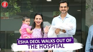 Esha Deol Walks Out Of The Hospital Giving First Glimpse Of 2nd Daughter Miraya