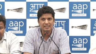 AAP Chief Spokesperson Briefs Media on Late Ankit Saxena Issue