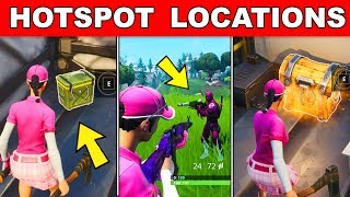 Elimination at a Hot Spot, Search chests at a Hot Spot, Search ammo boxes at a Hot spot Fortnite