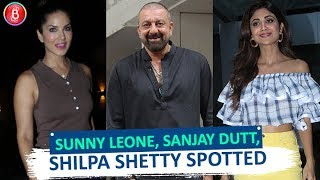 Sunny Leone Sanjay Dutt, Shilpa Shetty Spotted Around Town