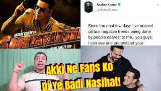 Akshay Kumar Letter To Fans Over Sooryavanshi Controversy Related To Salman And Rohit Shetty