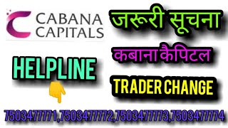 WE ARE BACK NOW || CABANA CAPITALS TRADER CHANGE AND CRYPTO UPDATES